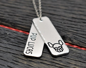 Puppy Play Necklace, Personalised Jewellery