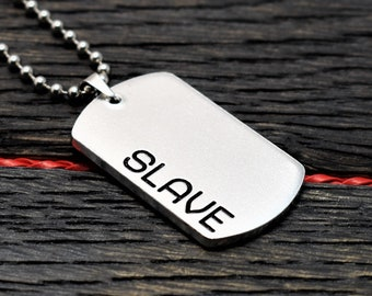 Slave Necklace, BDSM Military Style