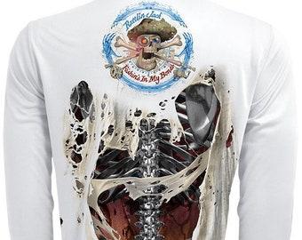 Men's Steel Bones UPF Fishing Shirt Long Sleeve Performance by Rattlin Jack®