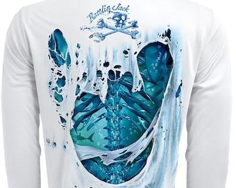 Men's Water Bones UPF Fishing Shirt Long Sleeve Performance by Rattlin Jack®
