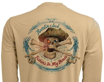 Compass Back Only UPF 50 Fishing Shirt Men's Long Sleeve Performance by Rattlin Jack®