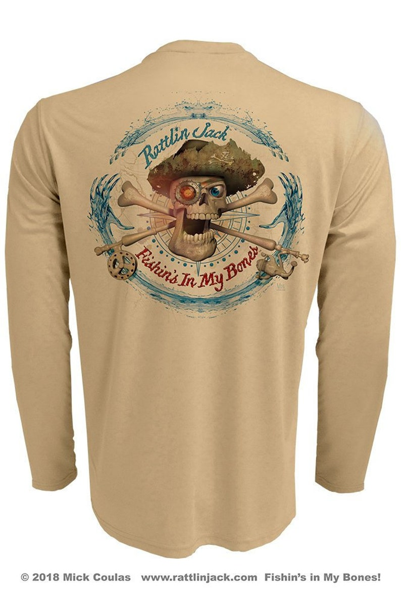 Compass Back Only UPF 50 Fishing Shirt Men's Long Sleeve image 0
