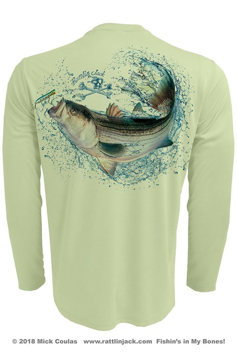 Men's Striped Bass UPF 50 Fishing Shirt Long Sleeve image 0