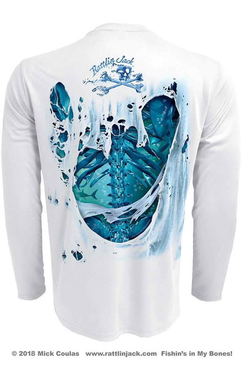 Men's Water Bones UPF Fishing Shirt Long Sleeve image 0