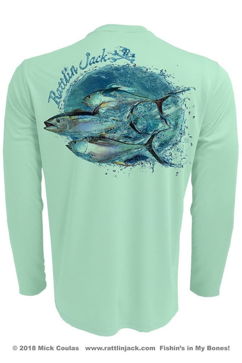 Men's Water Tuna UPF 50 Fishing Shirt Long Sleeve image 0