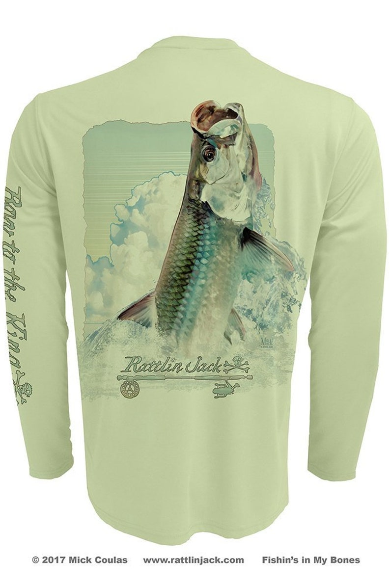Silver King Tarpon UPF Fishing Shirt Men's Long Sleeve image 0