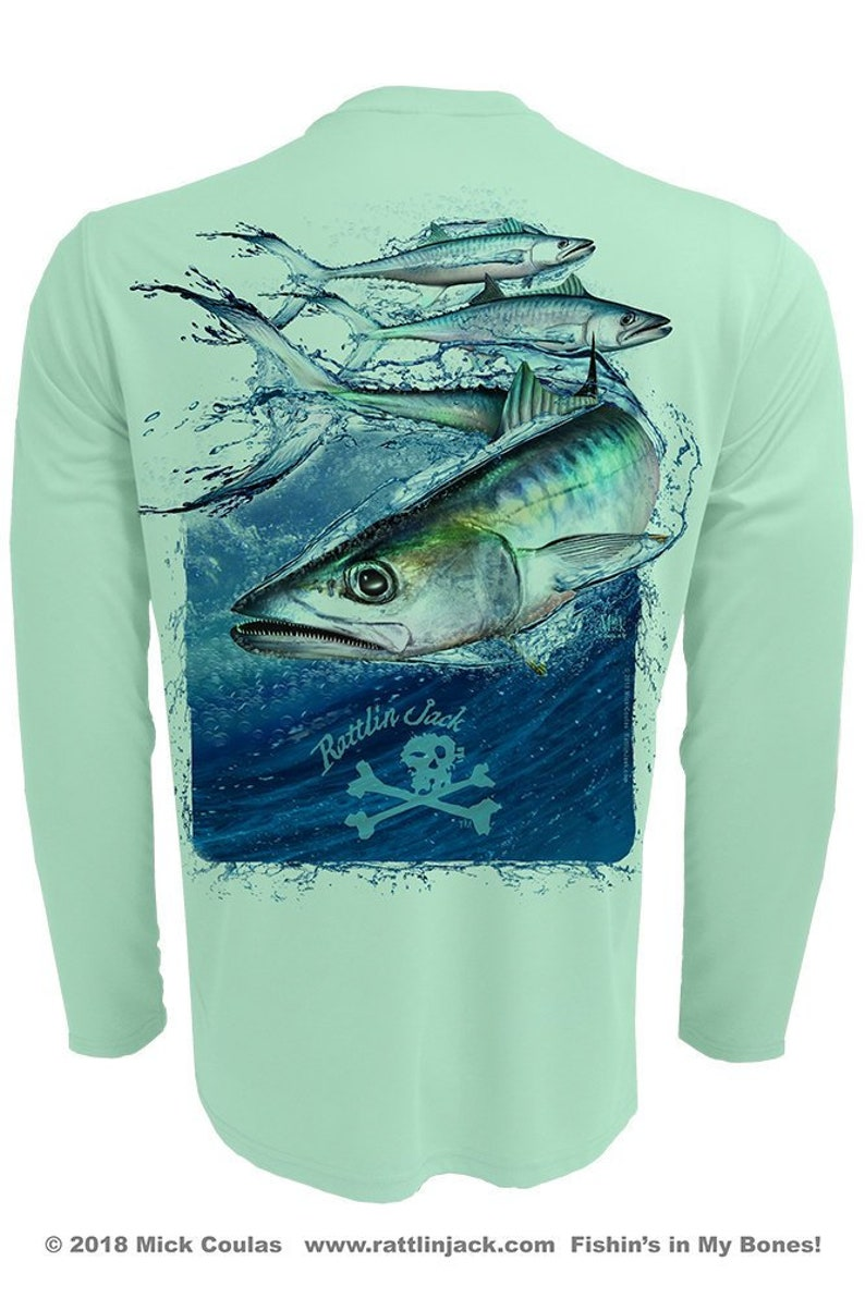 Men's King Mackerel UPF 50 Fishing Shirt Long Sleeve image 0