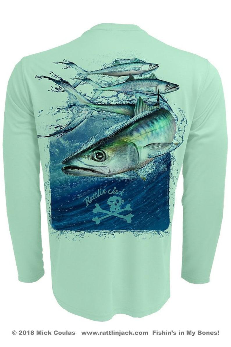 Men's King Mackerel UPF 50 Fishing Shirt Long Sleeve image 0