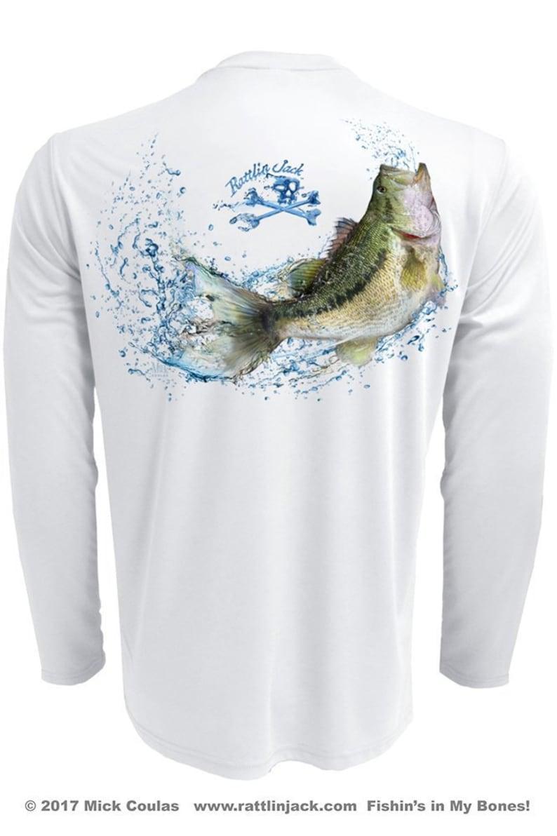 Men's Water Bass UPF 50 Fishing Shirt Long Sleeve image 1