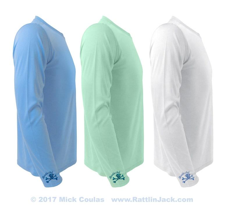 Men's UV Long Sleeve Performance Fishing Shirt Wrist Logo image 0