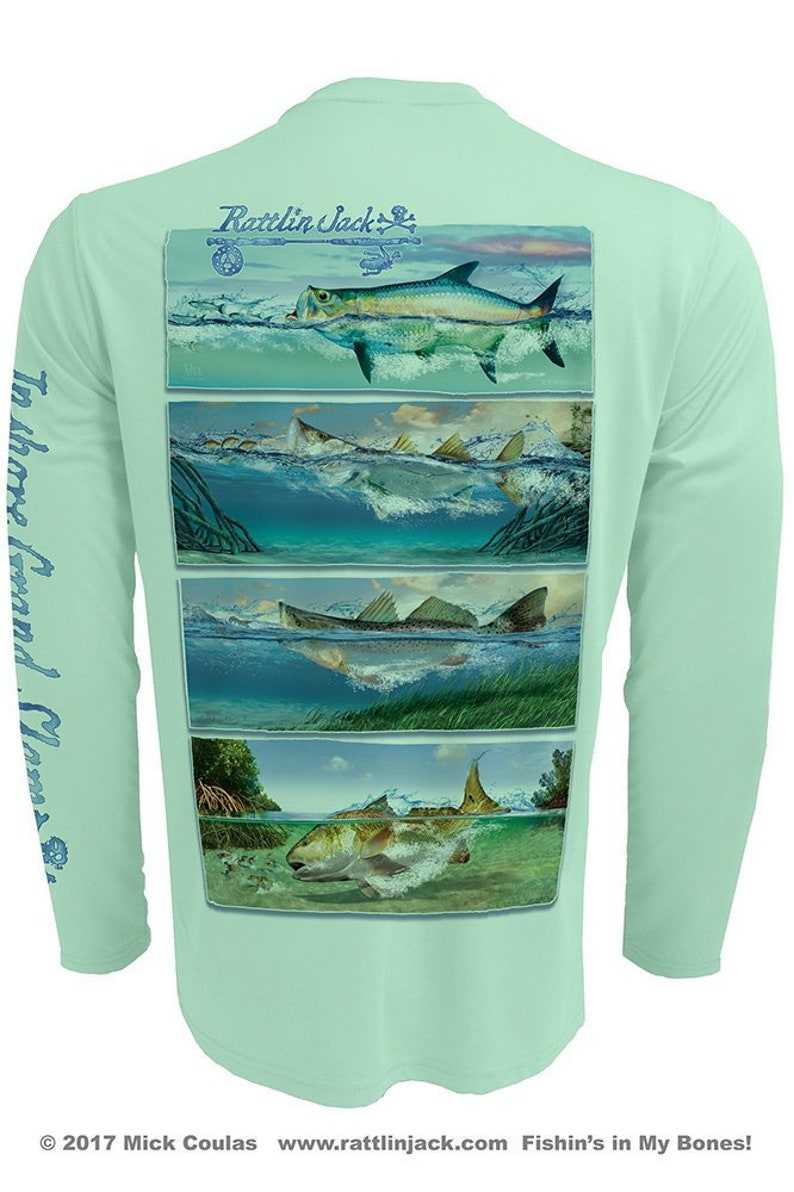 Inshore Grand Slam UPF Fishing Shirt Men's Long Sleeve image 0