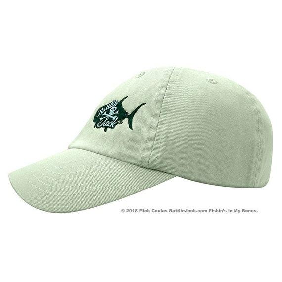 Rattlin Jack Mens Cotton Unstructured Adjustable Fishing Hat  a02b74ef1982