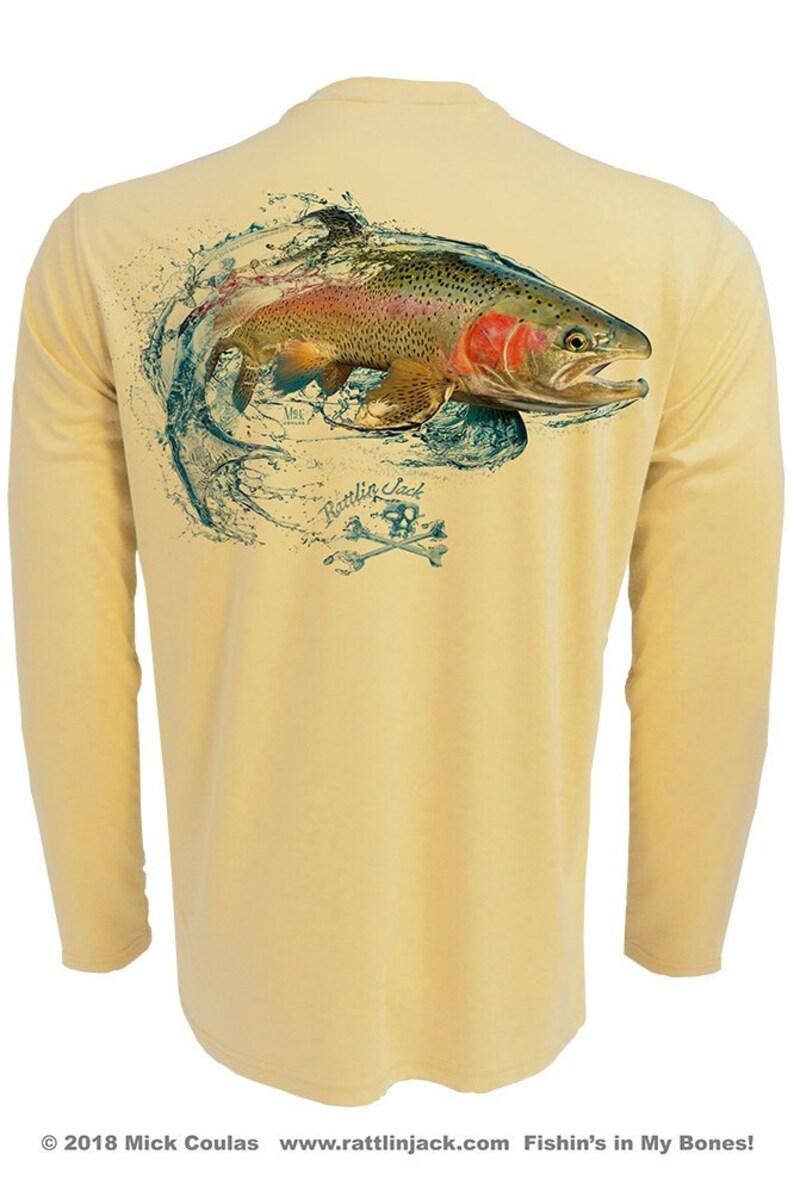 Men's Rainbow Trout UPF Fishing Shirt Long Sleeve image 0