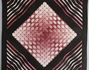 """woven gradation 2, your digital download will print on a 8 1/2"""" by 11"""" or standard A4, finished project is 29"""" by 29"""", made in Canada"""