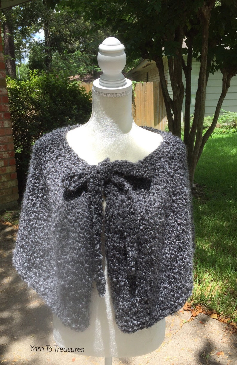 4f7670897 Hand Knit Outlander Inspired Claire's The Gathering Spellbinding Capelet,  Hand Knit Claire's The Gathering Capelet