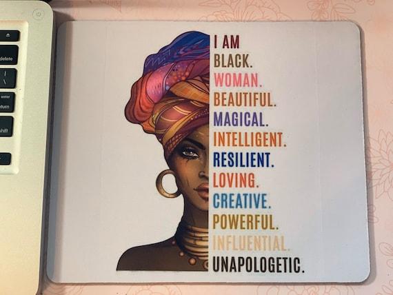 I AM  BLACK WOMAN mouse pad