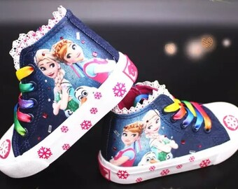 Customized Poppy Top Canvas Kids Shoes