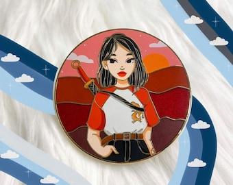 Fantasy Pin Modern Mulan