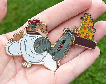 Chef Silver Fantasy Pin