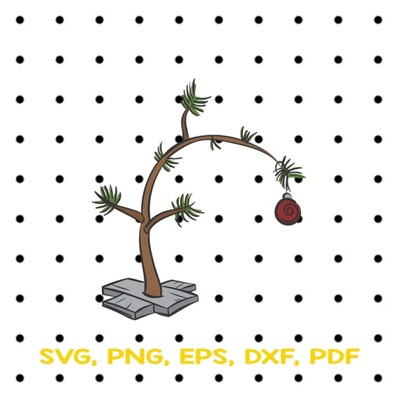 Charlie Brown Christmas Tree Silhouette.Charlie Brown Tree Svg Files Charlie Brown Christmas Svg File For Cricut Trees Clipart Christmas Silhouette Charlie Brown Cricut