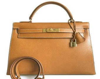 5d1fa6fb442 Hermes Kelly Sellier 32 Gold Plated Hardware