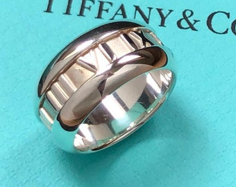 61103db26 Tiffany & Co. Sterling Silver Wide Atlas Band Ring
