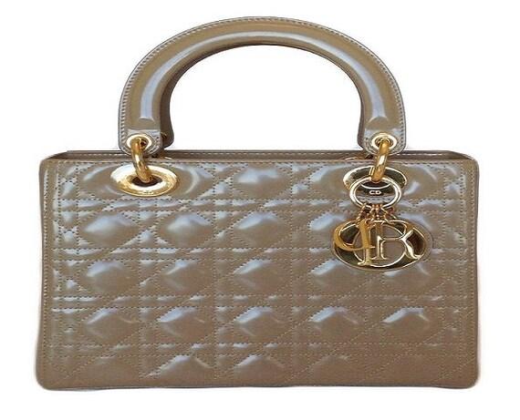 Christian Dior Medium Lady Dior Bag Taupe Certifie
