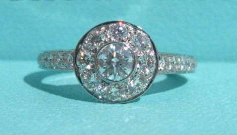 0388def7b Tiffany & Co Platinum And Diamond Circlet Ring | Etsy