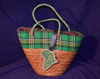 703a38419a29 Woven Bag (Green Africa)