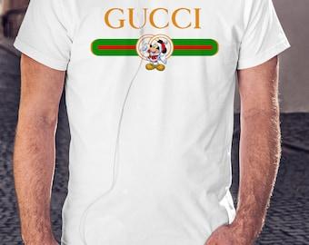 320b1d5df2a More colours. Gucci Mickey Mouse Shirt Disney Christmas T shirt Gucci Green  Line MENS KIDS BOYS Santa ...