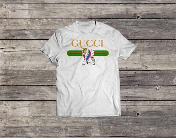270313ddf7be2 Gucci Unicorn Shirt Gucci Dabbing Unicorn T shirt MEN WOMENS
