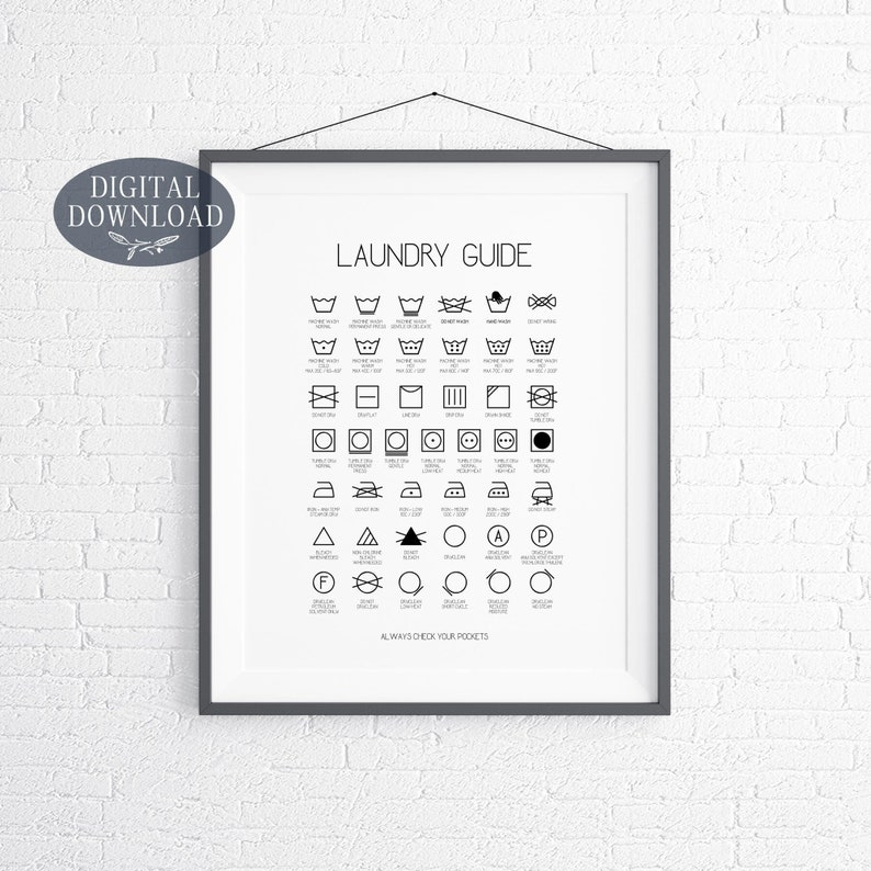 picture regarding Laundry Symbols Printable named Laundry Place Decor, Printable Laundry Symbols, Laundry Lead, Printable Laundry Space Artwork, Utility Space Indication