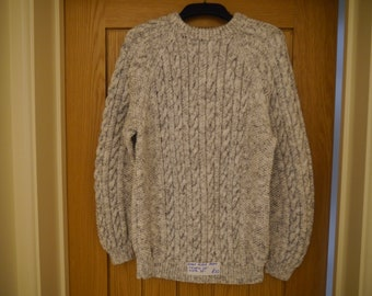 08b47a16617e40 Aran Hand Knitted Sweater