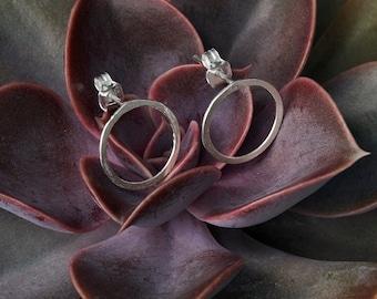 Silver circle earrings 925