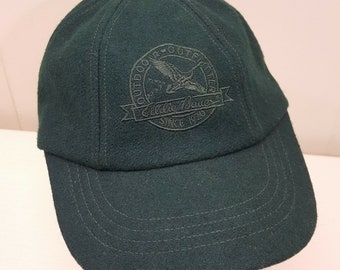 f220f08a4c163 Eddie Bauer Wool Hat Cap L XL Vintage USA Green Outdoor Outfitter
