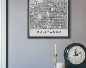 Hollywood map | Etsy