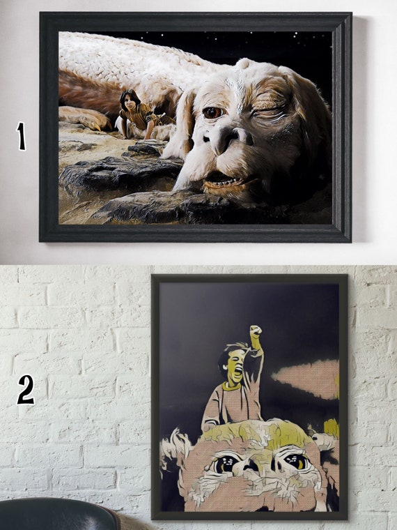 THE NEVERENDING STORY MOVIE POSTER FILM A4 A3 ART PRINT CINEMA