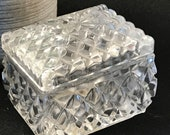 Anna Hutte Bleikristall Small 24 Leaded Crystal Trinket Box Jewelry Box Made in Germany