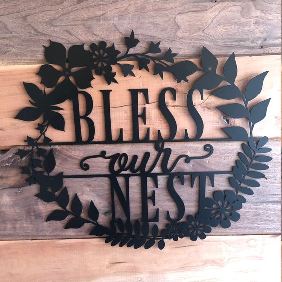 Bless Our Nest Metal Wall Decor Metal Wall Art Living Room Etsy