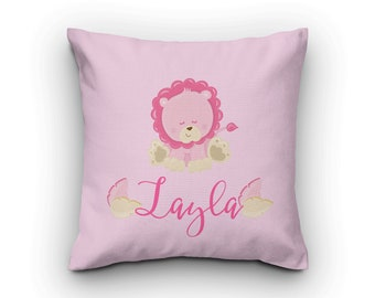 Personalised Pink This Baby Likes Cushion Cover