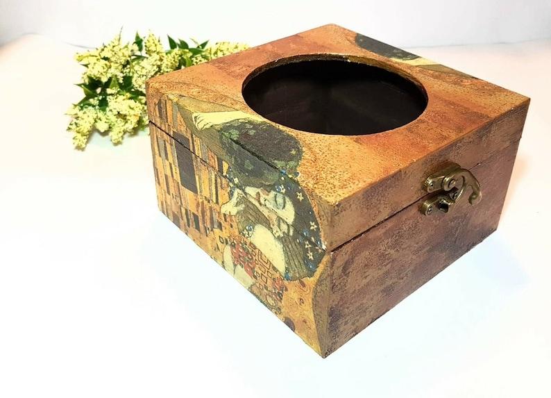 The Kiss by Gustav Klimt DecoupageArt Lovers Golden Gift For Her Tissue  Golden Box Cover