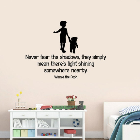 Never Fear The Shadows Winnie The Pooh Inspirational Quote Etsy What emotion is driving the market now? never fear the shadows winnie the pooh inspirational quote wall sticker walt disney vinyl decal christopher robin print art kids decor qw2