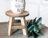 Farmhouse STOOL RISER, Mini Riser, Wooden STAND for Pottery, Farmhouse Riser, Wood Stand, Modern Farmhouse Decor, Plant Stand