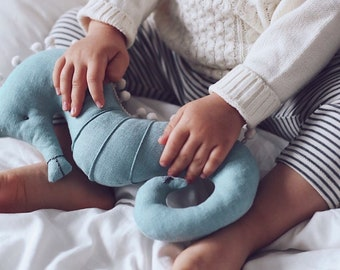 Seahorse Soft Toy - Seahorse Toy - Waldorf Toys - Nautical Nursery Decor - Mustard Yellow Toy - Seahorse Stuffed Animal - Baby Shower Gift