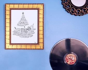 Music Wall Art - Song Lyrics, Into the Mystic, Van Morrison
