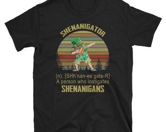 46b42831c St Patrick's Day Shirt, Dabbing Shenanigans Shirt, Dabbing Shenanigator  Shirt, Dabbing Leprechaun Shirt Unisex T-Shirt