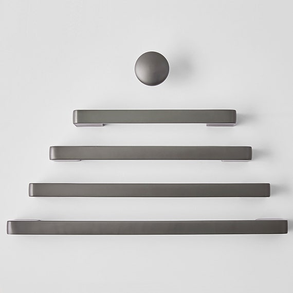 Round Knobs for homes cafes Matte Gunmetal Grey Drawer Knobs and Drawer Pulls offices Cabinet Knobs and Pulls restaurants etc.