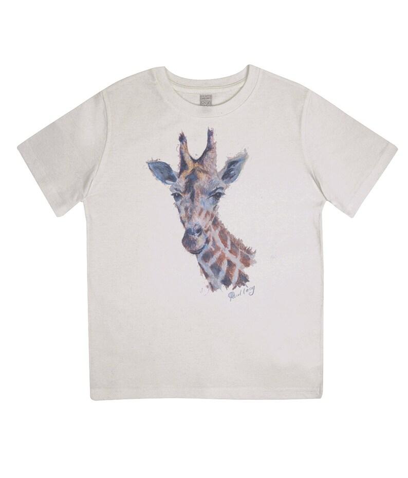 Junior Classic Jersey T-Shirt Giraffe portrait