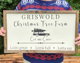 Christmas Vacation Sign, Griswold Christmas, Large Farmhouse Christmas Sign, Christmas Vacation Movie Sign, Clark Griswold, Tree Farm Sign