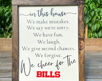 Buffalo Bills, Buffalo Bills Fan Gift, Buffalo Bills Fan, Football Sign, Farmhouse Football Sign, Bills Football, Let's Go Buffalo, 716 Gift